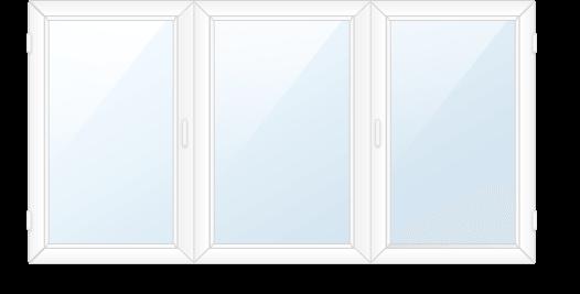 Трёхсекционное окно